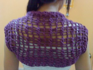 Square to Shrug Violet Shrug Free Crochet Pattern