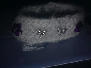 Felted crochet bracelet
