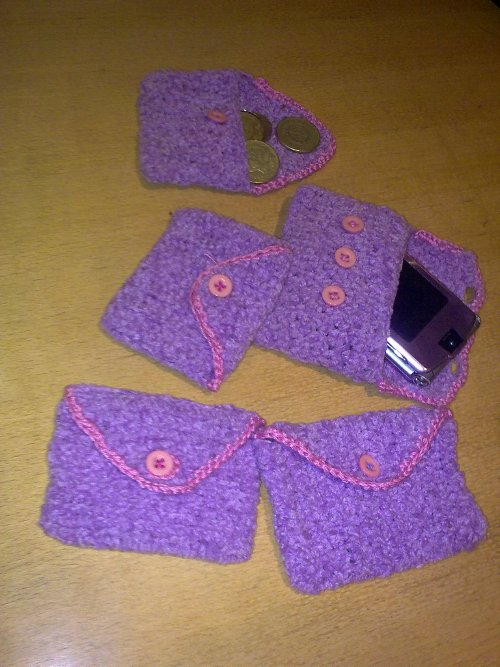 crocheted coin purse