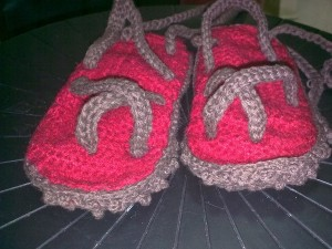 Felted Baby Slippers with Textured Sole