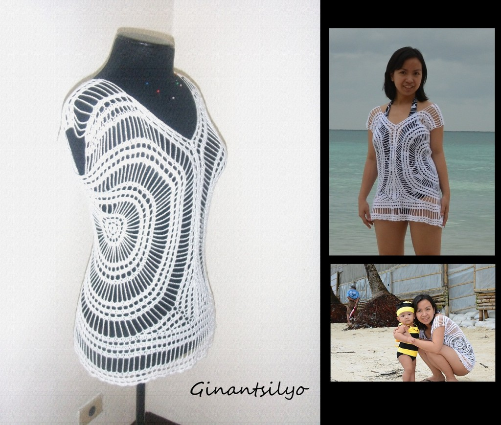 Ginantsilyo - White Crocheted Top