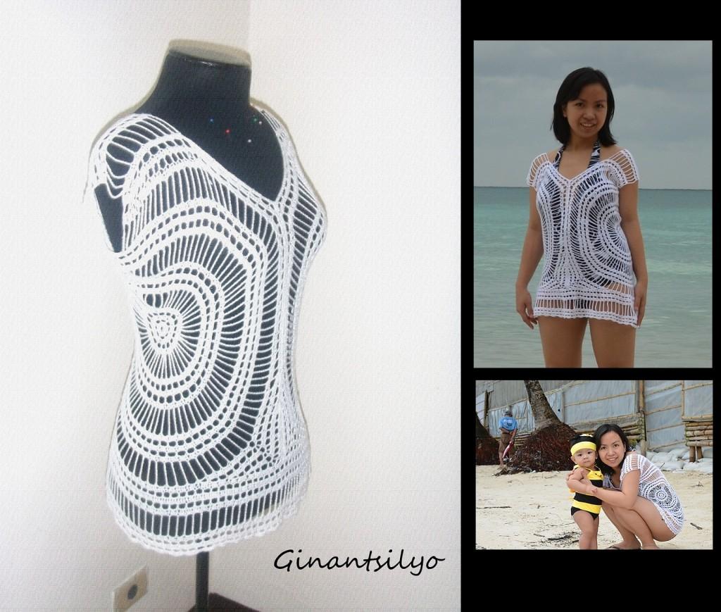 Ginantsilyo - White Crocheted Top