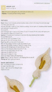 100 Flowers to knit and crochet - arum lily