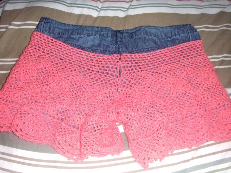 Free Patterns Crochet Shorts : AngieHeart s Shorts: Lace Edgings and Stitching Together ...