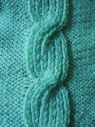 Closed Bud Cable Knitting Stitch