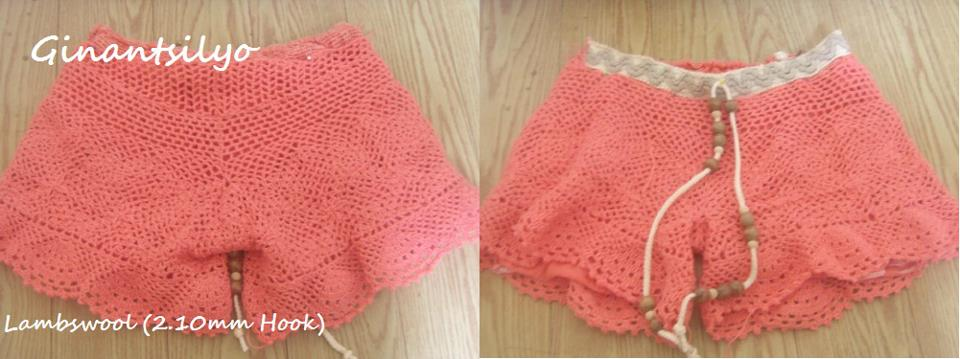 Dainty little crocheted shorts