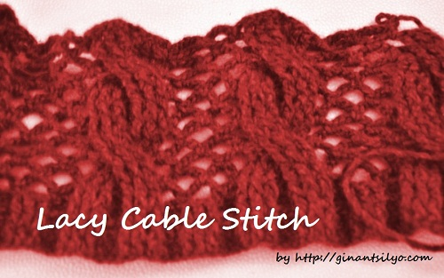 lacy cable stitch
