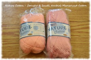 Mercerized Cotton - (bought in Saudi Arabia)