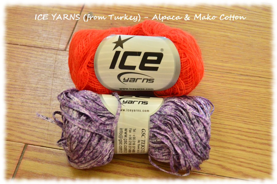 ICE YARNS from Turkey (www.yarn-paradise.com) Alpaca and Mako Cotton