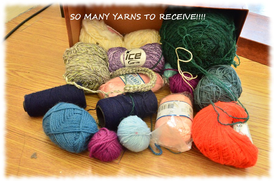So many yarns to receive!!!