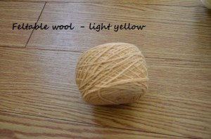 Feltable wool yellow