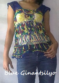Blue Crocheted Blouse