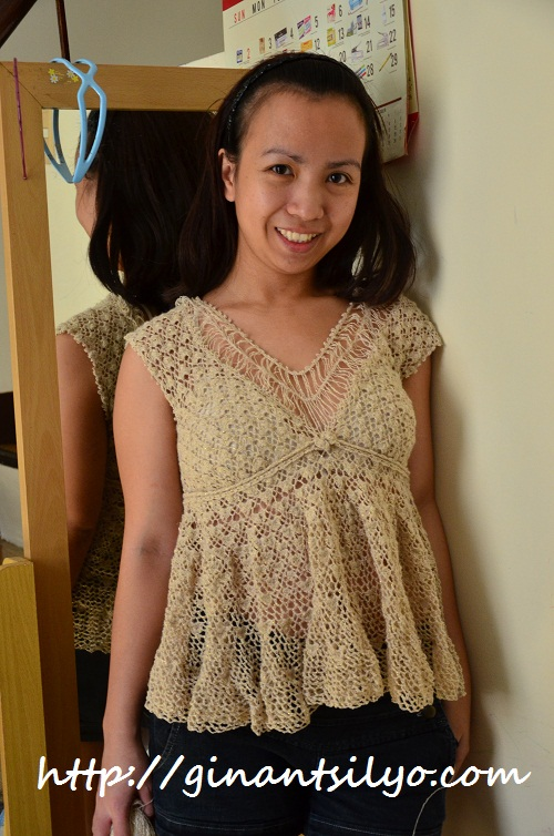 crocheted dress gaining length
