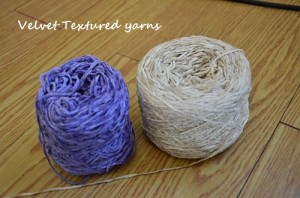 velvet textured yarns
