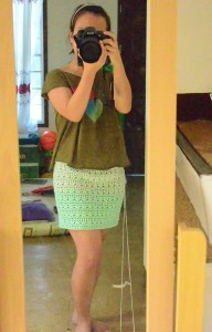 Mint Green Crocheted Skirt