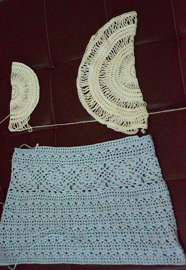 White and Blue Crochet