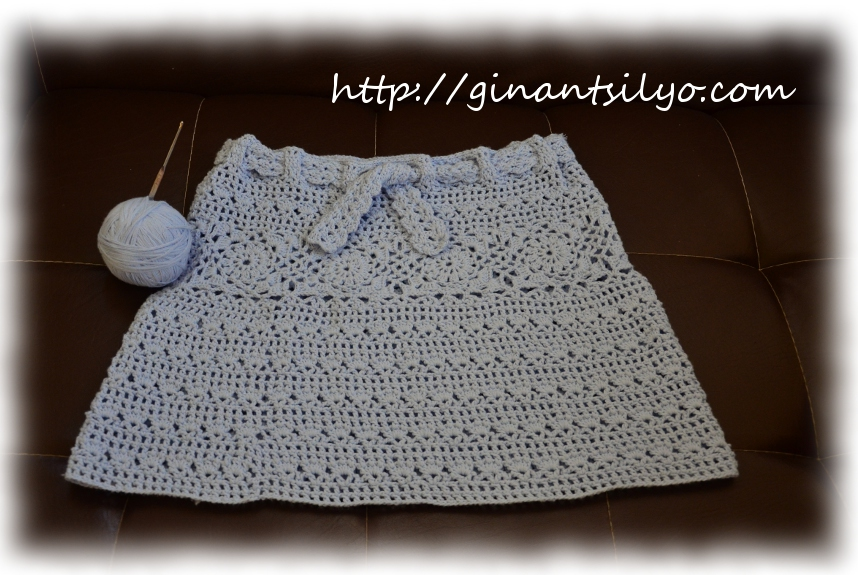 Blue Crocheted Skirt