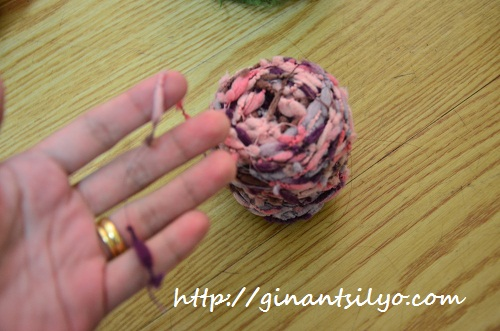 Pink variegated yarn from Indonesia