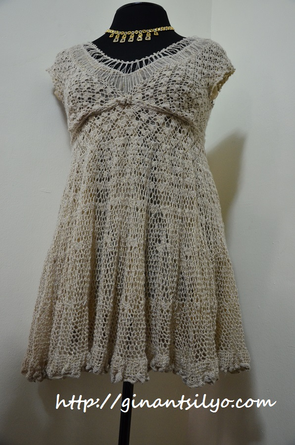 Lacy Golden Dress