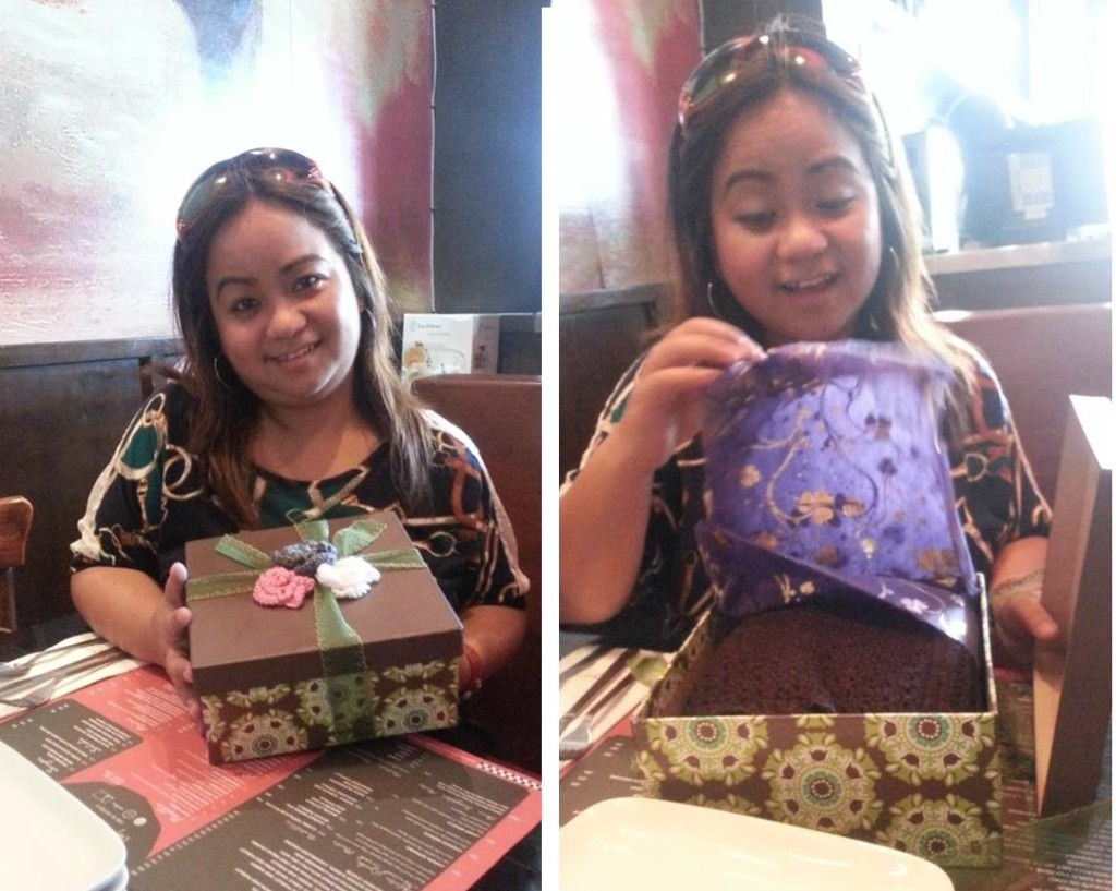 My sister finally receiving her gift of ginantsilyo
