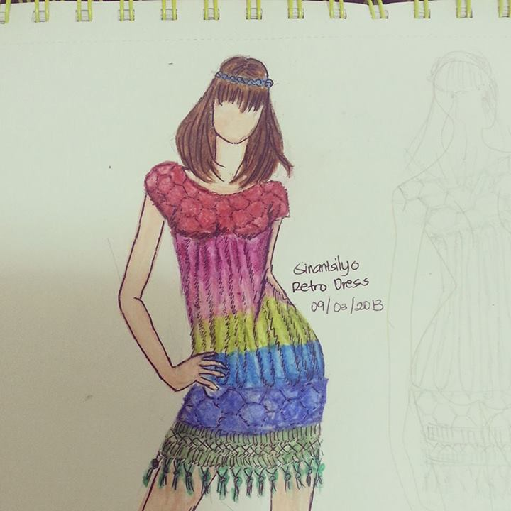 Hexagonal Motifs + Bruge's lace. An attempt to create a colorful dress with a number of color switching created continuously. I have attempts to create the bodice of the dress but tooks too much effort so the dress has been set aside.