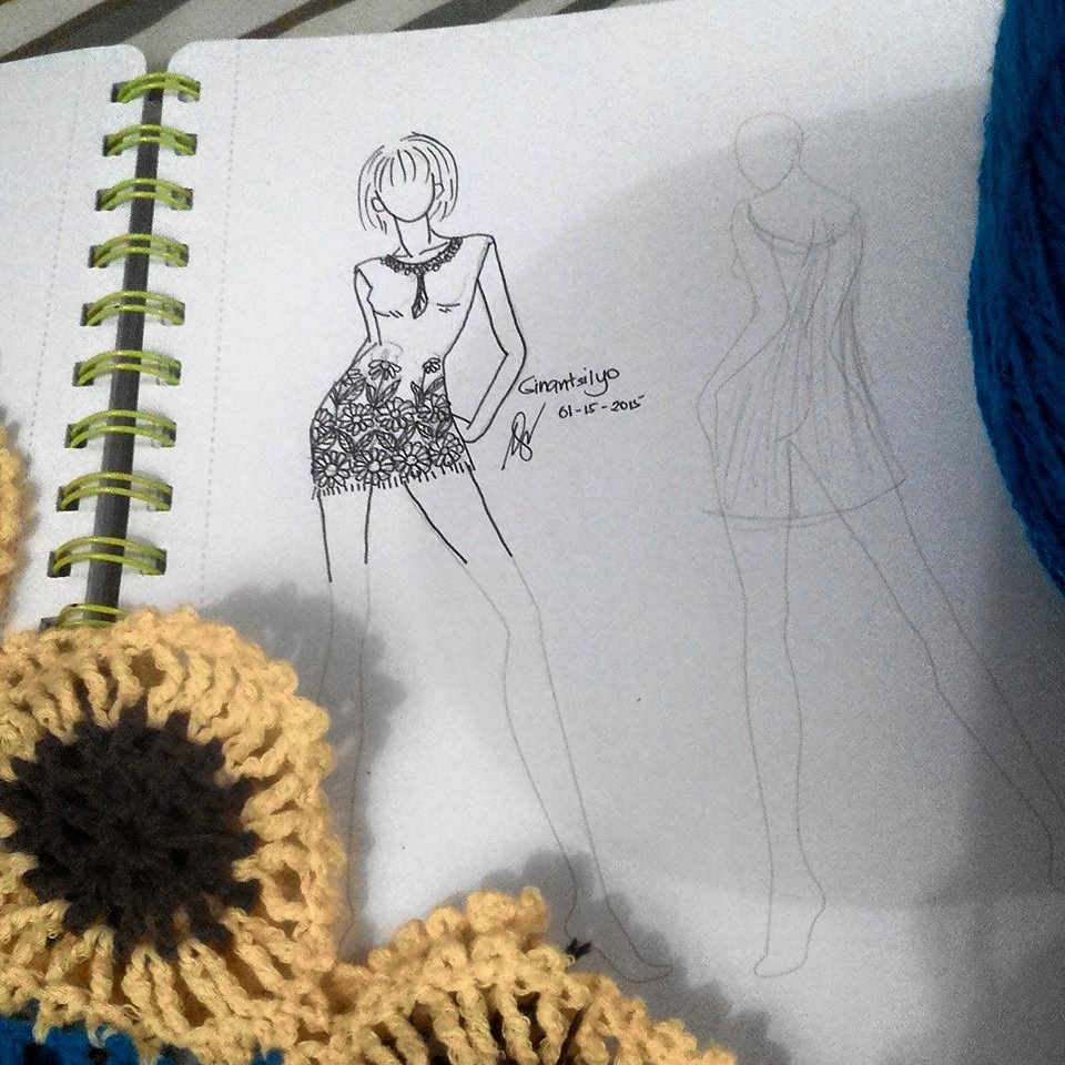 Concept Design / Sketch of the Sunflower Dress