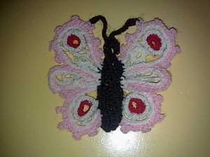 Butterfly in Venetian Crochet